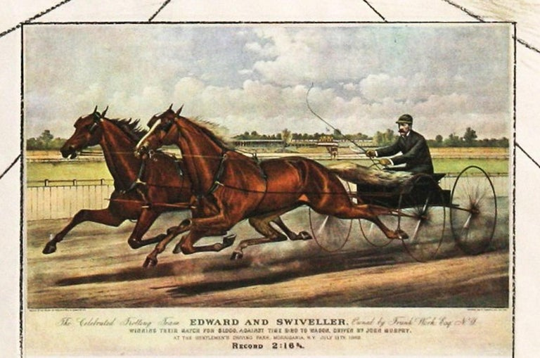 """American Trotting Horses No.1   is  from the series """"The World Of Currier And Ives as interpreted by Salvador Dali"""" published by Phyllis Lucas, New York. There are six original limited edition lithographs plus a title page """"Dali's"""
