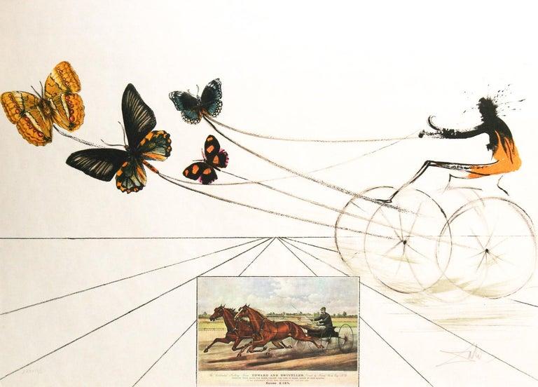 Salvador Dalí Animal Print - American Trotting Horses No. I