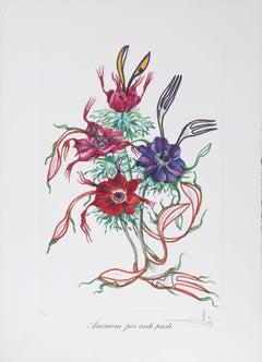 Anemone per Antipasti, Lithograph by Salvador Dali 1972