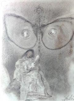 Antequam exires de vulva sanctificavi te - Lithograph by S. Dalì - 1964
