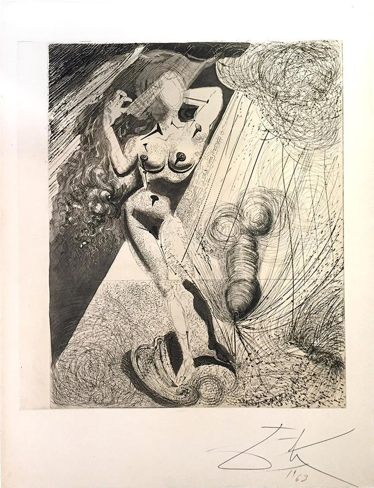 Aphrodite - Original Héliogravure and Drypoint by Salvador Dali - 1963 1
