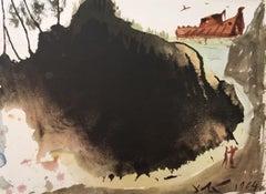 """Aquae diluvii super terram - From """"Biblia Sacra"""""""