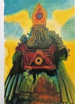 """Arca Foederis From """"Biblia Sacra"""" - Original Lithograph by S. Dalì - 1964"""