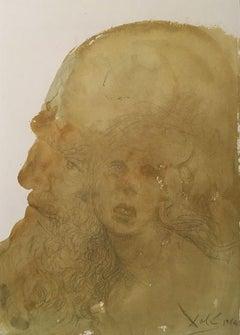 Assuerus Adamavit Esther - Original Lithograph by S. Dalì - 1964