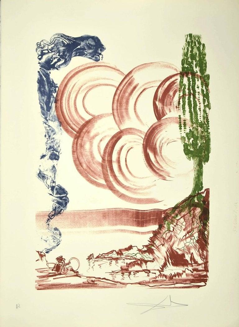Salvador Dalí Print - Atmos - Original Lithograph by Salvador Dalì - 1973