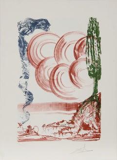 Atomo from the Colibri Suite, Surreal Landscape Lithograph by Salvador Dali