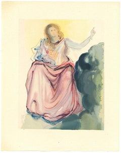 Beatrice Resolves Dante's Doubts - Original Woodcut by Salvador Dalì - 1963