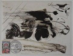 Bicycle, Tour de France 1959 - Original etching - 100 copies