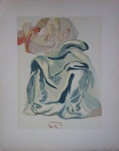 Blessed Prayer - woodcut - 1963