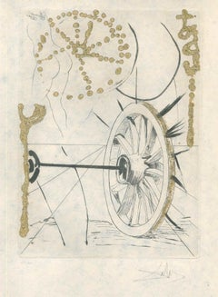 Bonne Fortune et Fortune - Original Etching by S. Dalì - 1974