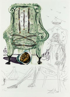 Breathing Pneumatic Armchair Limited Edition Lithograph & Collage Salvador Dali