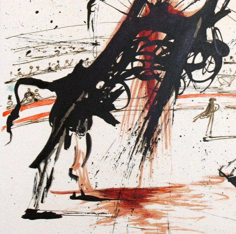 Bullfight No. 5 original lithograph by Salvador Dali For Sale 3