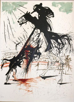 Bullfight No. 5 original lithograph by Salvador Dali