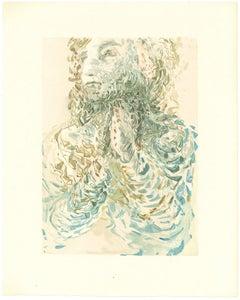 Cacciaguida Sees Dante's Exile in God - Original Woodcut by Salvador Dalì - 1963