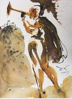 "Canite Tuba in Sion - Original Lithograph from ""Biblia Sacra"" - 1964"