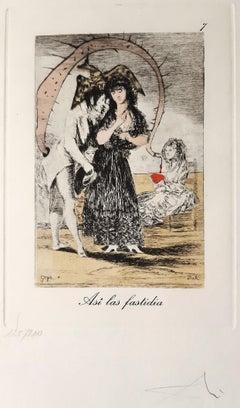Capricho de Goya n°7 - Héliogravure and Pochoir - 1977