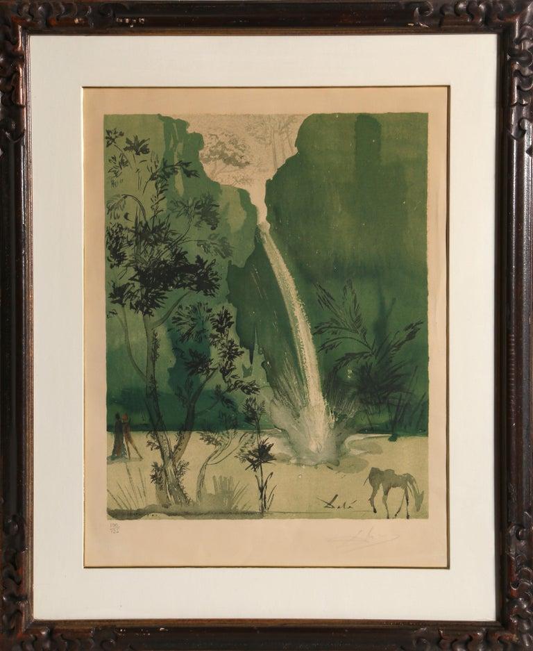 Salvador Dalí Landscape Print - Carmen, Framed Lithograph by Salvador Dali