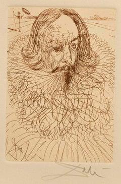 Cervantes from Dali's Five Spanish Immortals