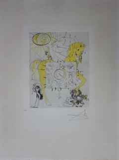 Chevalier Royal de l'Apocalypse - Original etching - 1972