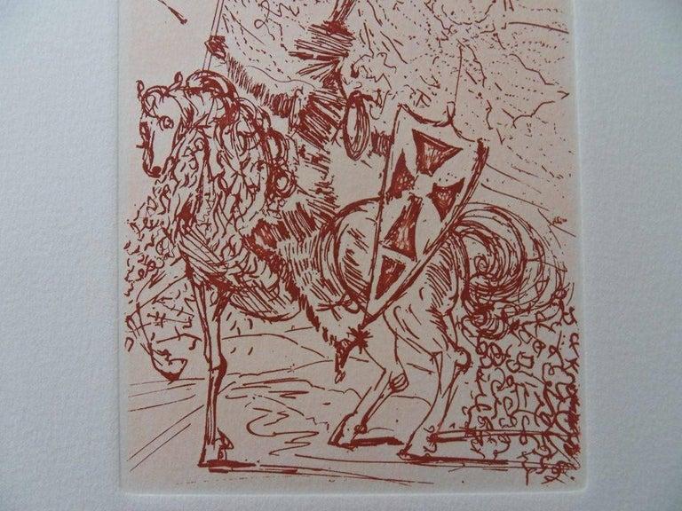 Cinq portraits Espagnols : El Cid - Original etching, 1966 For Sale 1