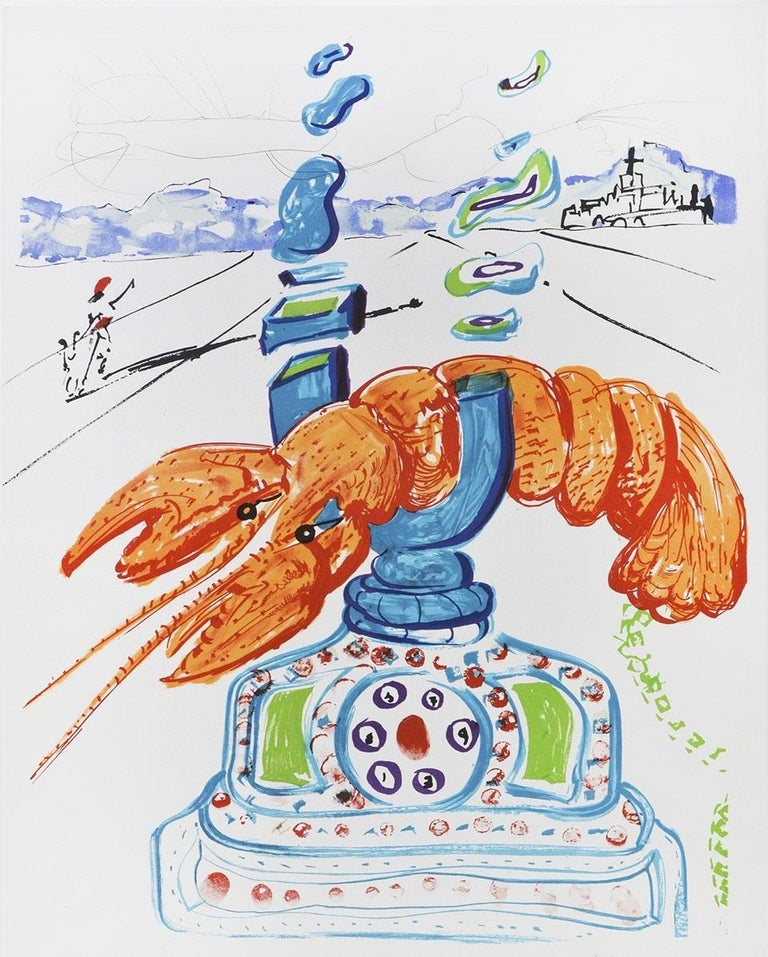 Cybernetic Lobster Telephone.  - Contemporary Print by Salvador Dalí