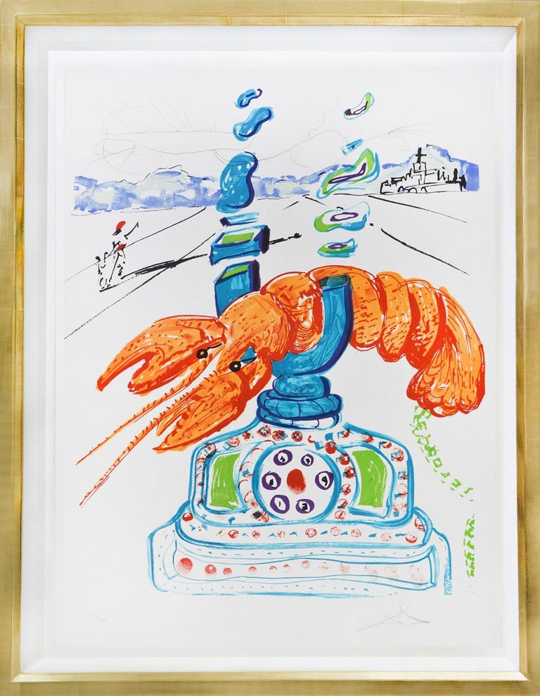 Salvador Dalí Abstract Print - Cybernetic Lobster Telephone.