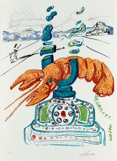 Cybernetic Lobster Telephone, Limited Edition Lithograph, Salvador Dali