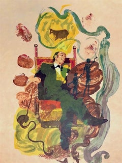 DALI DREAMS (KING OF COINS) 1978 Signed Lithograph on Japon Paper, Tarot Card