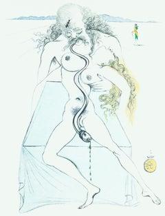 Dali Illustrates Casanova - Plate 2 - Original Lithograph by S. Dalì - 1980