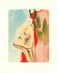 Dante Alighieri - Original Woodcut by Salvador Dalì - 1963