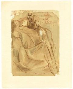 Dante's Repetance - Original Woodcut Print by Salvador Dalì - 1963