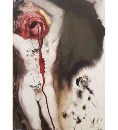 """David et Goliath - Original Lithograph from """"Biblia Sacra"""" - 1964"""