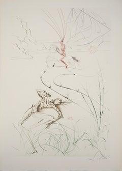 "Dernier combat de Tristan (""Tristan's Last Fight""), Original etching, Handsigned"