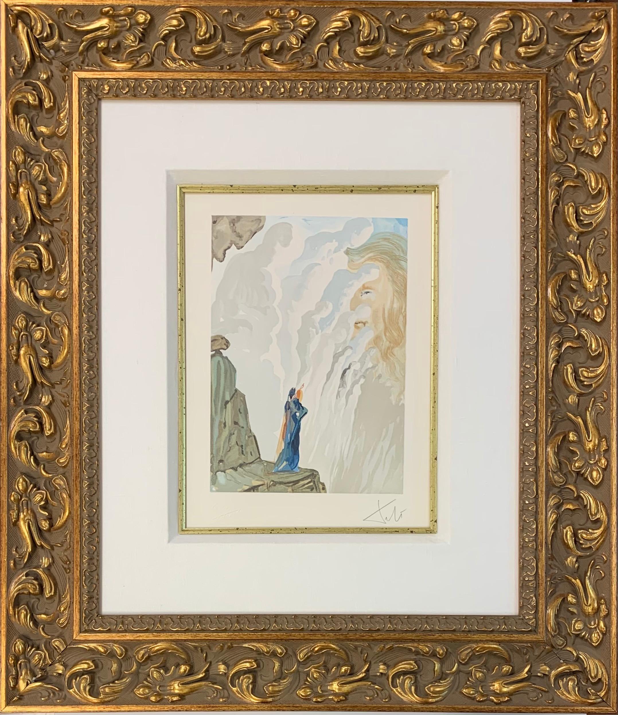 Divine Comedy Purgatory Canto #17, Original Surrealist Woodcut Print