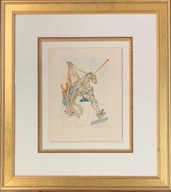 "Divine Comedy Series ""Mohammed"", Original Surrealist Woodcut Print"