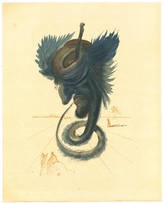Diviners and Sorceres - Original Woodcut Print by Salvador Dalì - 1963