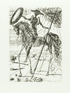 """Don Quichotte"" - Original Etching by S. Dalì - 1966"