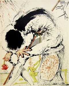 Don Quichotte Overwhelmed, 1957 Limited Edition Lithograph, Salvador Dali