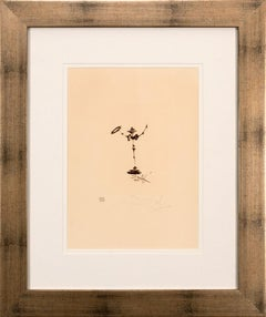 """Don Quixote"" Framed Limited Edition Hand-Signed Etching by Salvador Dalí"