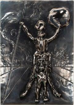 """Don Quixote"" [Silver Edition] Bas Relief Sculpture with Case by Salvador Dalí"