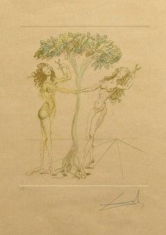 Eden -Original Lithograph by Salvador Dalì - 1980s