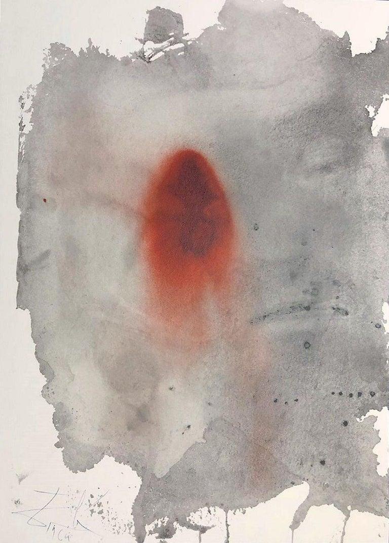 Salvador Dalí Print - Ego Sum Vermis et Non Homo - Original Lithograph by S. Dalì - 1964