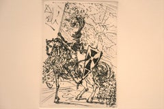 El Cid - Original Etching by S. Dali - 1966