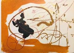 Elias per Turbinem in Caelum - Original Lithograph by Salvador Dalì - 1965
