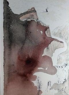 Et Baptizatus est a Ioanne in Iordane - Original Lithograph by S. Dalì - 1964