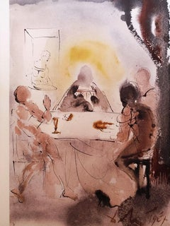 Et cognoverunt eum in fractione panis - Original Lithograph by S. Dalì - 1964