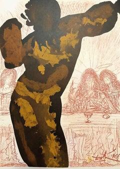 Et Post Buccellam Introivit in Eum - Original Lithograph by Salvador Dalì - 1964