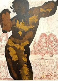 Et Post Buccellam Introivit in Eum - Original Lithograph by Salvador Dalì - 1965