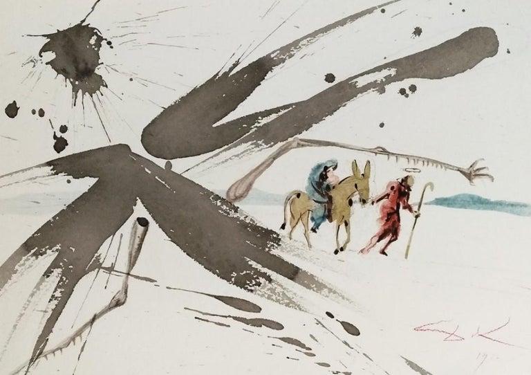 """Salvador Dalí Abstract Print - Ex Aegypto vocavi filium meum - From """"Biblia Sacra"""""""