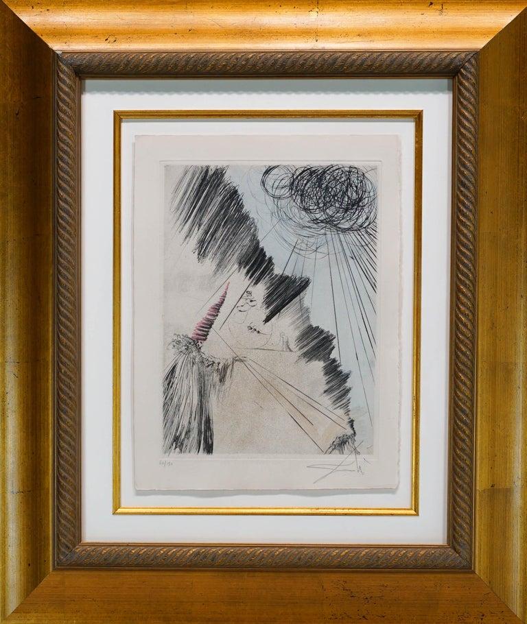 "Salvador Dalí Figurative Print - Faust ""Woman with Clown"""